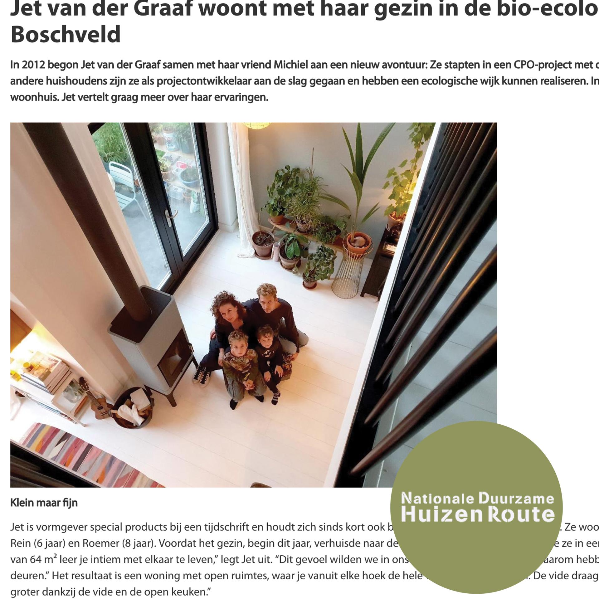 // interview Duurzame Huizenroute