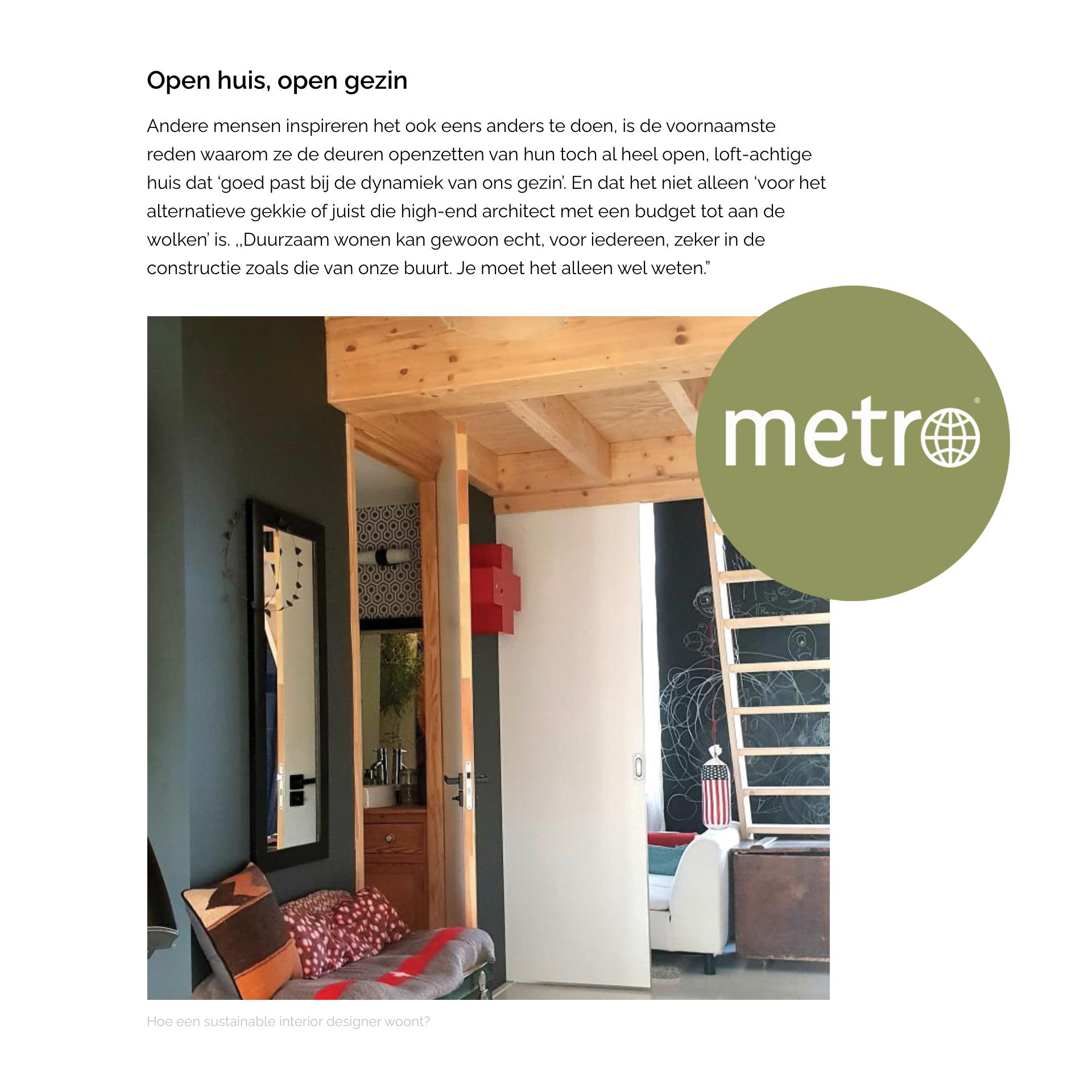 // interview Metro krant & online