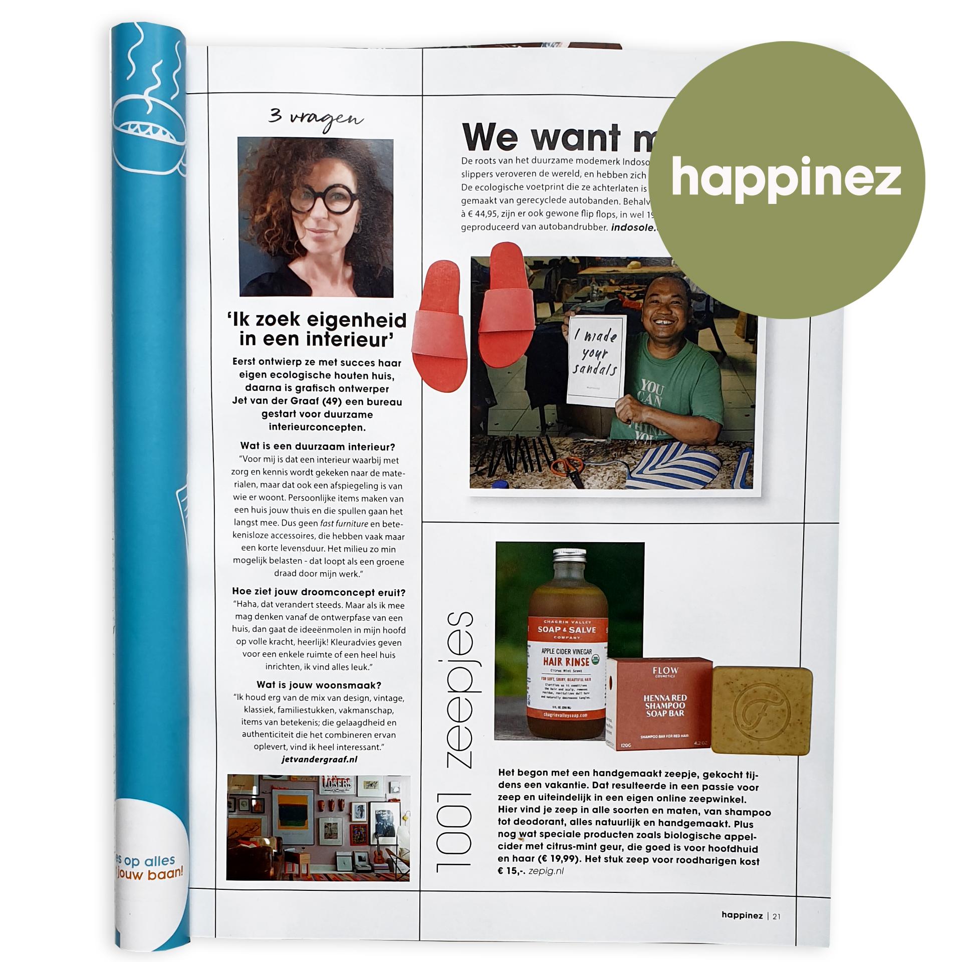 // interview Happinez Magazine